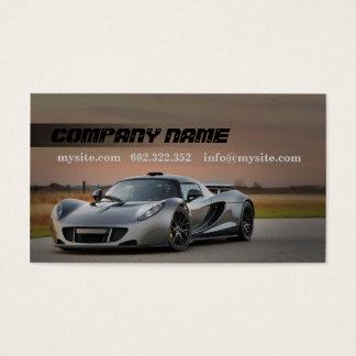Cartão de visita cinzento automotriz do carro do