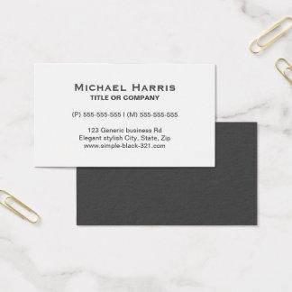 Cartão de visita cinzento branco elegante simples