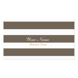 Cartão de visita cinzento da listra