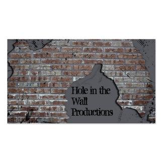 Cartão de visita cinzento da parede de tijolo
