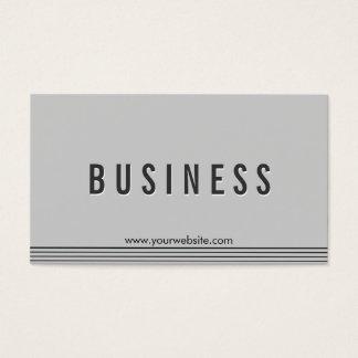 Cartão de visita cinzento elegante do colaborador