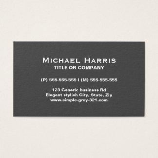 Cartão de visita cinzento elegante simples moderno