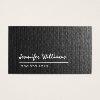 Cartão de visita cinzento liso do profissional das