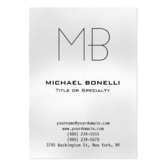 Cartão de visita cinzento moderno carnudo do monog