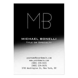 Cartão de visita cinzento preto moderno carnudo na