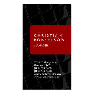 Cartão de visita cinzento preto vermelho vertical