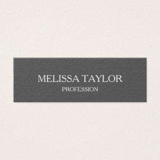 Cartão de visita cinzento profissional minimalista