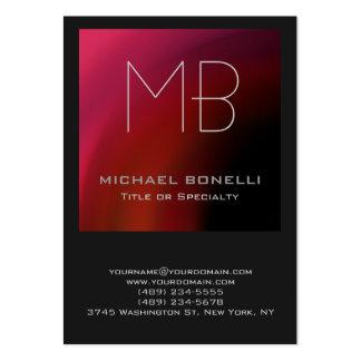 Cartão de visita cinzento roxo cor-de-rosa vermelh