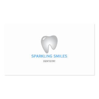 Cartão de visita cinzento simples do dentista