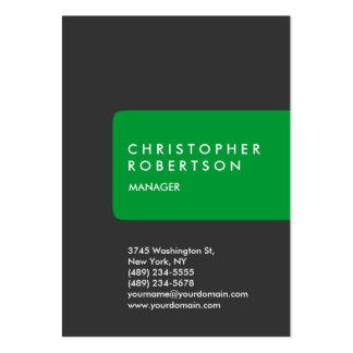 Cartão de visita cinzento verde carnudo na moda ve
