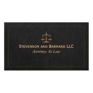 Cartão de visita clássico de linho do falso do adv