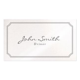 Cartão de visita clássico do motorista de Pearl Wh