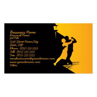 Cartão de visita clássico do negócio da dança