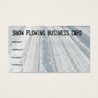 Cartão de visita coberto de neve do arado de neve