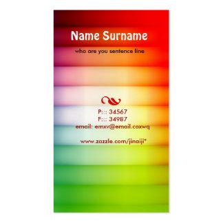 cartão de visita colorido
