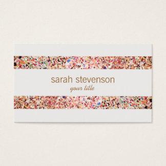 Cartão de visita colorido 4 do olhar do brilho das