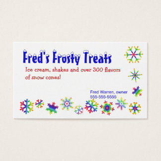 Cartão de visita colorido brilhante dos flocos de