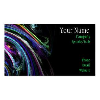 Cartão de visita colorido da arte