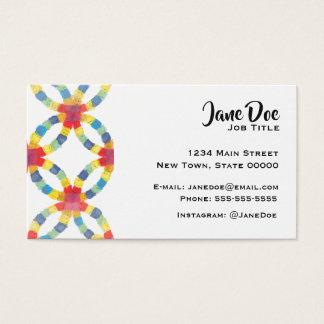 Cartão de visita colorido da edredão