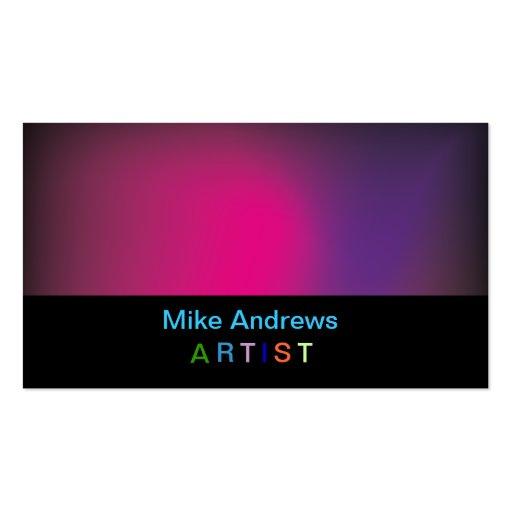 Cartão de visita colorido do Artista-Pintor