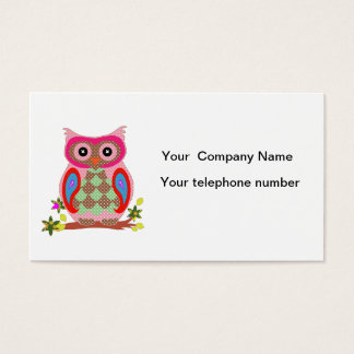 Cartão de visita colorido do costume da arte
