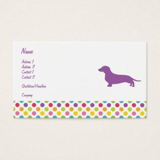Cartão de visita colorido do Dachshund