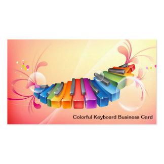 Cartão de visita colorido do teclado