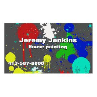 Cartão de visita colorido dos pintores