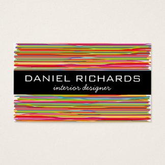 Cartão de visita colorido moderno do designer de