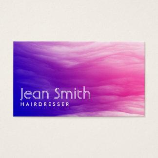 Cartão de visita colorido vívido do cabeleireiro