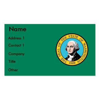 Cartão de visita com a bandeira do estado de Washi