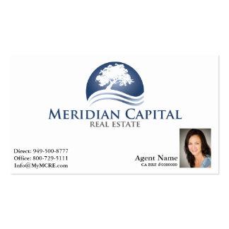 Cartão de visita com a foto no branco do direito i