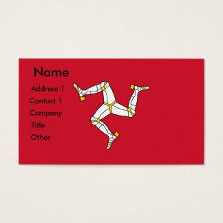 Cartão de visita com a ilha da bandeira do homem,