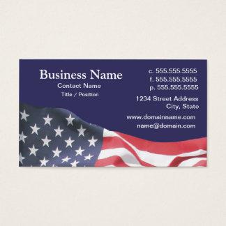 cartão de visita com bandeira americana 2