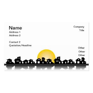 Cartão de visita com casas