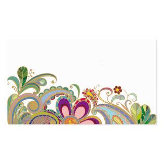 cartão de visita com flores