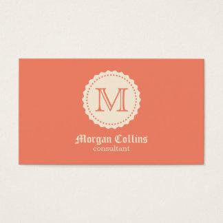 Cartão de visita com monograma e selo