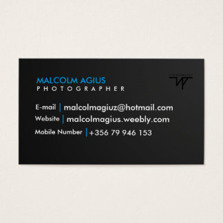 Cartão de visita com seu próprio watermark!