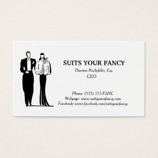Cartão de visita com um estilo elegante
