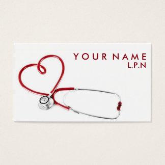 Cartão de visita compassivo da enfermeira