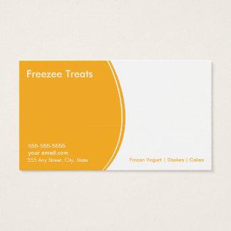 Cartão de visita congelado da lealdade do cliente
