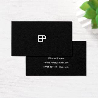 Cartão de visita contínuo preto e branco simples