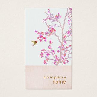 Cartão de visita cor-de-rosa bonito do ramo dos