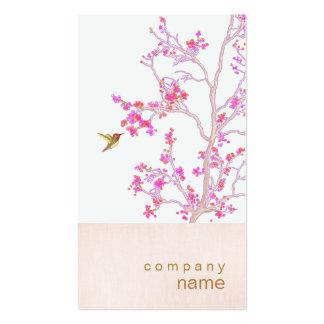 Cartão de visita cor-de-rosa bonito do ramo dos bo