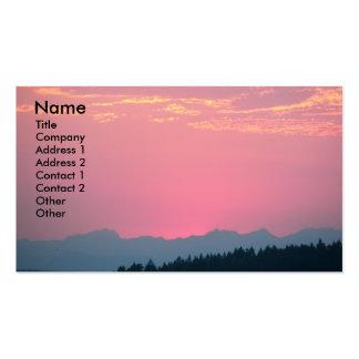 Cartão de visita cor-de-rosa da foto da paisagem