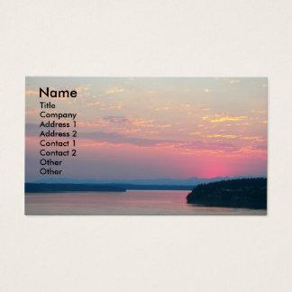 Cartão de visita cor-de-rosa da foto do Seascape