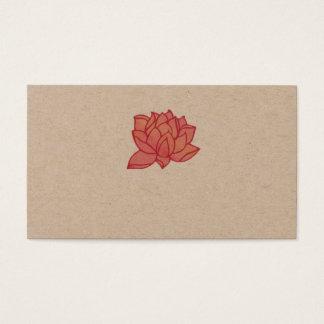 Cartão de visita cor-de-rosa de Lotus