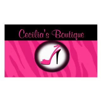 Cartão de visita cor-de-rosa do boutique dos calça