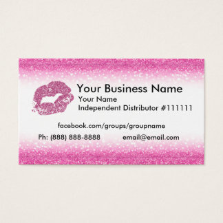 Cartão de visita cor-de-rosa do brilho
