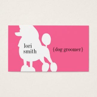 Cartão de visita cor-de-rosa do Groomer do cão de